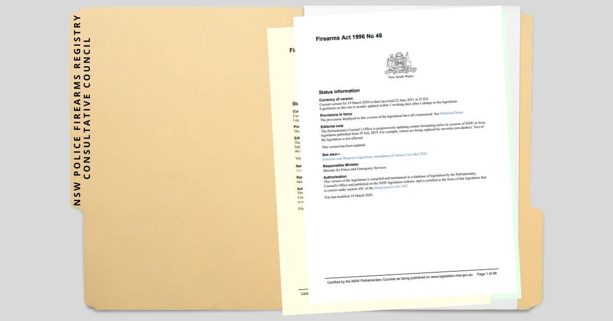 NSW Police Firearms Registry Consultative Council – members formally announced.