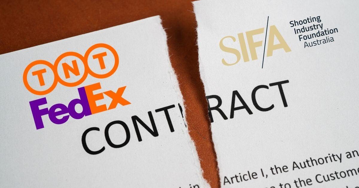 FedEx / TNT cancels the entire Australian firearms industry.
